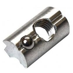 Hliníková nacvakávací matice M8 do profilu s pojistnou kuličkou