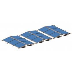 Konstrukce pro 10 solárnách panelů 2,5kW