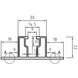 Hliníkový trapézový profil HNP5