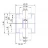 Hliníkový profil HNP4 - 40x45 mm - délka 2,15 m
