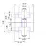 Hliníkový profil HNP4 - 40x45 mm - délka 3 m